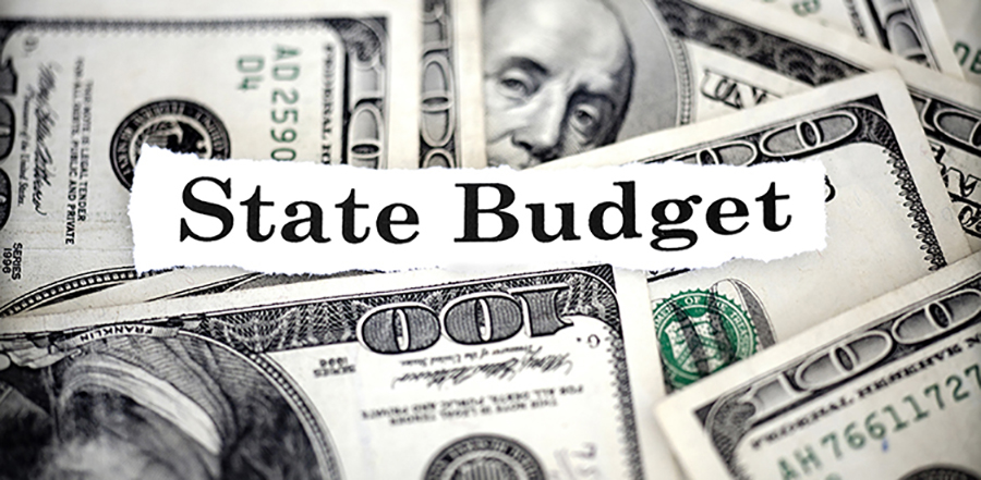 state budget and one hundred dollar bills